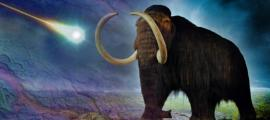 A woolly mammoth meets a meteor strike
