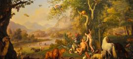 Adam and Eve in the Garden of Eden by Wenzel Peter, Vatican Museum