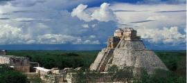 The grand pyramid of the Maya at Uxmal