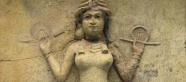 "The ""Burney Relief,"" which is believed to represent either Ishtar, the Mesopotamian goddess of love and war, or her older sister Ereshkigal, Queen of the underworld (c. 19th or 18th century BC)."