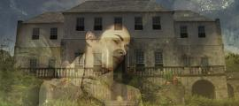 Painting of a ghostly looking woman. (Public Domain) Rose Hall, the estate house of a former sugar plantation, in Jamaica.