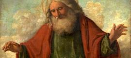 God the Father (represented by an old patriarch with white hair) by Cima da Conegliano, c. 1515