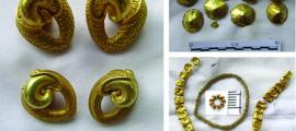 Bali gold ornaments found at Pangkung Paruk.         Source:  A. Calo / Antiquity Publications Ltd