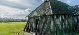 'Light and Structure' - Reconstruction of Viking Longhouse: Central Jutland, Denmark.