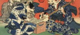 Cat Keiko (1841) by Utagawa Kuniyoshi.