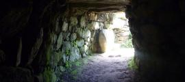 Enlarged entrance to Carn Euny fogou.