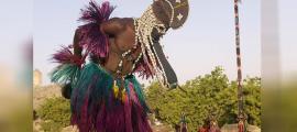 Dogon ritual dance, Mali.