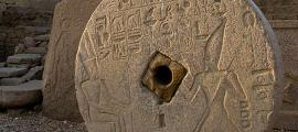 Grinding stone, Dendera Temple, Egypt.