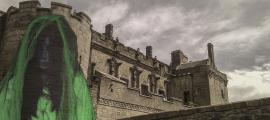A female ghost (Public Domain) and Stirling Castle