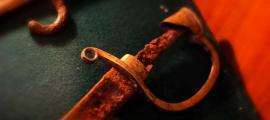 Old rusty sword