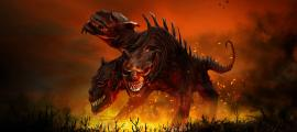 The Hell Hound Cerberus.