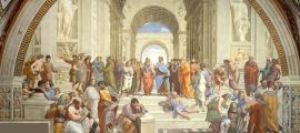 Rafael's School of Athens, depicting Plato's Academy.