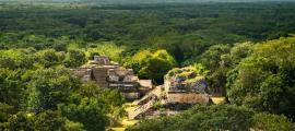 Ek Balam Maya Archeological Site. Maya Ruins, Yucatan Peninsula. Credit: bobiphil / Adobe Stock