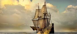 Mayflower II, a replica of the famous Mayflower ship