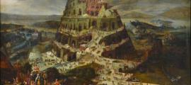 'The tower of Babel' (1550-1584) by Pieter Balten. Is it possible to interpret another meaning of the Tower of Babel?