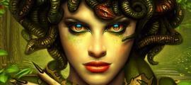 A modern Medusa depiction.