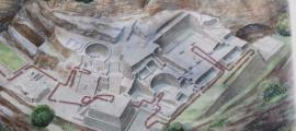 From this map of the site, all the main structures and rock carvings are visible.