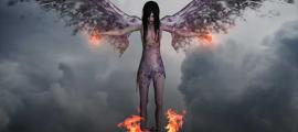 A demon or dark angel.