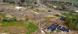 The huge settlement from the Neolithic period that was discovered in the archaeological excavations at the Motza intersection near Jerusalem. Source: Eyal Marco / Israel Antiquities Authority