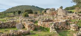A view of Nuragic complex of Palmavera