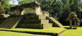 Temple at Ceibal site, Guatemala