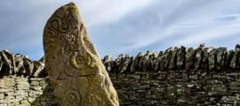 Pictish symbols carved on a standing stone, Aberlemno, Scotland. Source: Stuart /Adobe Stock