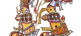The immolation of the hero twins, known from the Popul Vuh and other narratives, may have been re-enacted in the fifth-century AD Maya city of Tikal. The twins in this image were drawn from an ancient Maya ceramic piece.