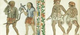 Representations in the Boxer Codex of two of the ethnic groups of people living in the Pre-Colonial Philippines - A Zambal Couple (Public Domain) and Pintados of the Visayas (Leyte or Samar). (Public Domain)