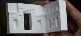 3D printed model of the ancient site of Puma Punku, Tiwanaku.