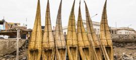 Traditional totora reed raft usage is fading away.  Source: ecuadorquerido / Adobe Stock