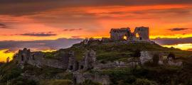 Dunamase Caste at sunset