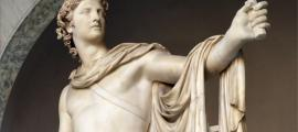 Sculpture portraying Greek god Apollo