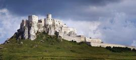 A panoramic view of Spis Castle.