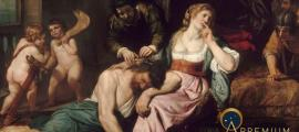 Samson and Delilah by Domenico Fiazella (1650) Louvre (Public Domain)