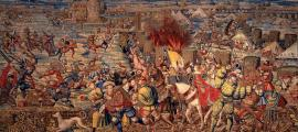 Detail of 'The Battle of Pavia' (1528-1531) by Bernard van Orley and William Dermoyen.