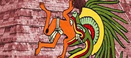 Quetzalcoatl – Public Domain, and El Castillo at Chichén Itzá – CC BY-SA 4.0
