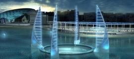 The ambitious proposed design of the planned underwater antiquity museum set for the Bay of Alexandria, Egypt