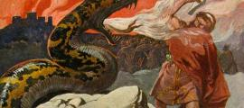 Thor and the Midgard Serpent, by Emil Doepler, 1905.