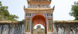 The Gate of Imperial Tomb of Emperor Tu Duc in Hue, Vietnam.