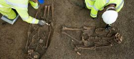 Two graves with mutilated skeletons found