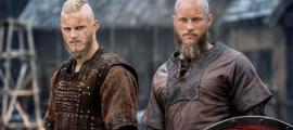 "Two actors from the History Channel series ""Vikings."""