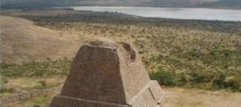 The Votive Pyramid of the archeological zone of La Quemada, Mexico