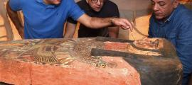 "Dozens Of ""New"" Ancient Egyptian Coffins Found Near Saqqara"