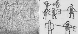 1,500-Year-Old Graffiti reveals Gladiator Battles
