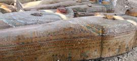 Some of the twenty coffins found in the Assasif necropolis.    Source: Ministry of Antiquities