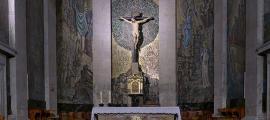 The Christ of Victory in the Concatedral de Santa María in Vigo, Galicia, Spain.