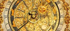 A celestial clock found in Cathédral St. Jean in Lyon (14th century)