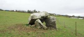 The dolmen tomb at Killaclohane in County Kerry