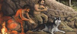 Neolithic hunters used domesticated dogs as their hunting companions in Jordan.