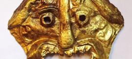 A repoussé golden death mask dating to before 200 AD